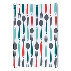 Spoon Fork Knife Pattern Apple Ipad Mini Hardshell Case by Onesevenart