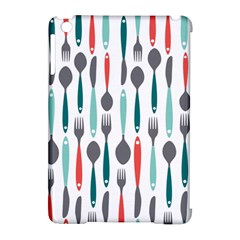 Spoon Fork Knife Pattern Apple Ipad Mini Hardshell Case (compatible With Smart Cover) by Onesevenart