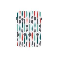 Spoon Fork Knife Pattern Apple Ipad Mini Protective Soft Cases by Onesevenart