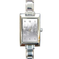 New Year Holiday Snowflakes Tree Branches Rectangle Italian Charm Watch by Onesevenart