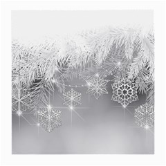 New Year Holiday Snowflakes Tree Branches Medium Glasses Cloth (2 Side) by Onesevenart