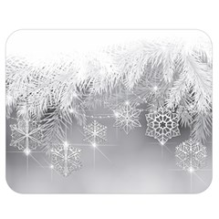 New Year Holiday Snowflakes Tree Branches Double Sided Flano Blanket (medium)  by Onesevenart