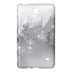 New Year Holiday Snowflakes Tree Branches Samsung Galaxy Tab 4 (8 ) Hardshell Case  by Onesevenart