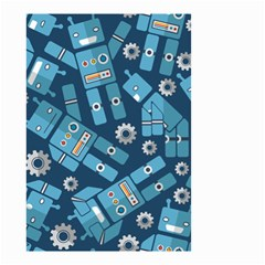 Seamless Pattern Robot Small Garden Flag (two Sides) by Onesevenart