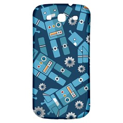 Seamless Pattern Robot Samsung Galaxy S3 S Iii Classic Hardshell Back Case by Onesevenart
