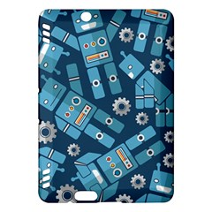 Seamless Pattern Robot Kindle Fire Hdx Hardshell Case by Onesevenart