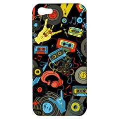 Music Pattern Apple Iphone 5 Hardshell Case by Onesevenart