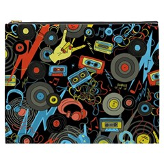 Music Pattern Cosmetic Bag (xxxl)  by Onesevenart