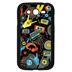 Music Pattern Samsung Galaxy Grand Duos I9082 Case (black) by Onesevenart