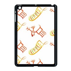 Stocking Reindeer Wood Pattern  Apple Ipad Mini Case (black) by Onesevenart