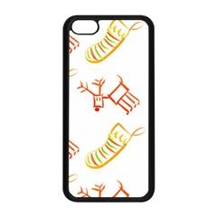 Stocking Reindeer Wood Pattern  Apple Iphone 5c Seamless Case (black) by Onesevenart