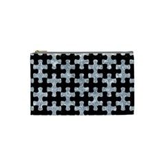 Puzzle1 Black Marble & Gray Marble Cosmetic Bag (small) by trendistuff