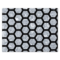 Hexagon2 Black Marble & Gray Marble (r) Jigsaw Puzzle (rectangular)