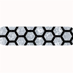 Hexagon2 Black Marble & Gray Marble (r) Large Bar Mat by trendistuff