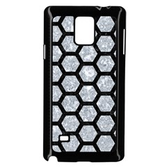 Hexagon2 Black Marble & Gray Marble (r) Samsung Galaxy Note 4 Case (black) by trendistuff