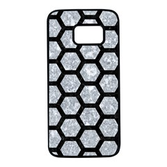 Hexagon2 Black Marble & Gray Marble (r) Samsung Galaxy S7 Black Seamless Case by trendistuff