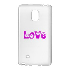 Pink Love Hearts Typography Galaxy Note Edge by yoursparklingshop