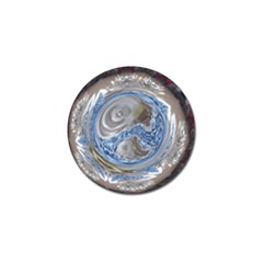 Silver Gray Blue Geometric Art Circle Golf Ball Marker (10 Pack) by yoursparklingshop