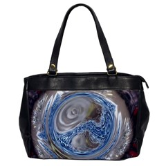 Silver Gray Blue Geometric Art Circle Office Handbags by yoursparklingshop