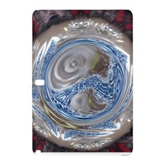 Silver Gray Blue Geometric Art Circle Samsung Galaxy Tab Pro 10 1 Hardshell Case by yoursparklingshop