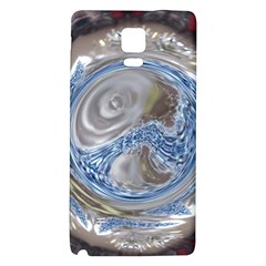 Silver Gray Blue Geometric Art Circle Galaxy Note 4 Back Case by yoursparklingshop