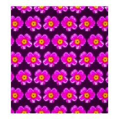 Pink Flower Pattern On Wine Red Shower Curtain 66  X 72  (large)