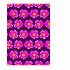 Pink Flower Pattern On Wine Red Large Garden Flag (two Sides)
