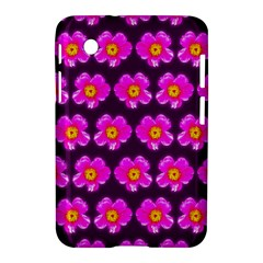 Pink Flower Pattern On Wine Red Samsung Galaxy Tab 2 (7 ) P3100 Hardshell Case