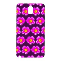 Pink Flower Pattern On Wine Red Samsung Galaxy Note 3 N9005 Hardshell Back Case