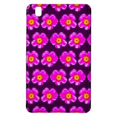 Pink Flower Pattern On Wine Red Samsung Galaxy Tab Pro 8 4 Hardshell Case by Costasonlineshop
