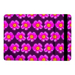 Pink Flower Pattern On Wine Red Samsung Galaxy Tab Pro 10 1  Flip Case