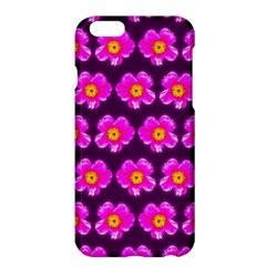 Pink Flower Pattern On Wine Red Apple Iphone 6 Plus/6s Plus Hardshell Case