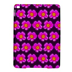 Pink Flower Pattern On Wine Red Ipad Air 2 Hardshell Cases