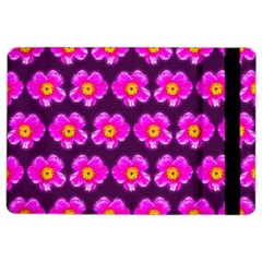 Pink Flower Pattern On Wine Red Ipad Air 2 Flip by Costasonlineshop