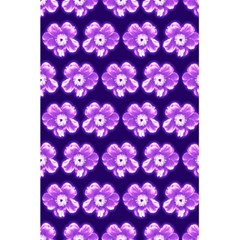 Purple Flower Pattern On Blue 5 5  X 8 5  Notebooks