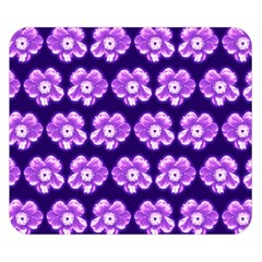 Purple Flower Pattern On Blue Double Sided Flano Blanket (small)  by Costasonlineshop