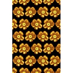 Yellow Brown Flower Pattern On Brown 5 5  X 8 5  Notebooks