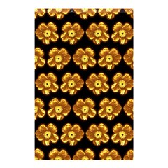 Yellow Brown Flower Pattern On Brown Shower Curtain 48  X 72  (small)  by Costasonlineshop