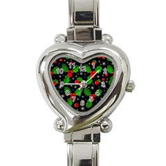 Xmas Magical Pattern Heart Italian Charm Watch by Valentinaart