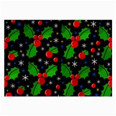 Xmas Magical Pattern Large Glasses Cloth (2 Side) by Valentinaart