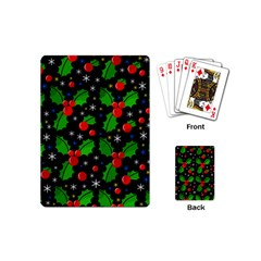 Xmas Magical Pattern Playing Cards (mini)  by Valentinaart