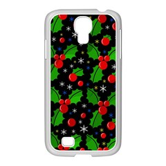 Xmas Magical Pattern Samsung Galaxy S4 I9500/ I9505 Case (white) by Valentinaart