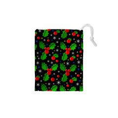 Xmas Magical Pattern Drawstring Pouches (xs)  by Valentinaart