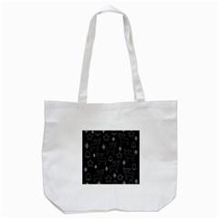 Black Xmas Pattern Tote Bag (white) by Valentinaart