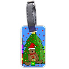 Xmas Gifts Luggage Tags (one Side)  by Valentinaart
