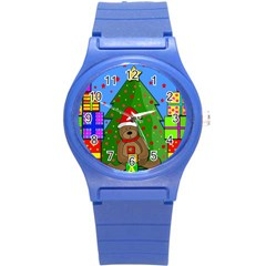Xmas Gifts Round Plastic Sport Watch (s) by Valentinaart
