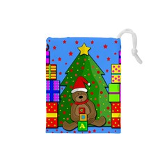 Xmas Gifts Drawstring Pouches (small)