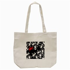 Red Lizard Tote Bag (cream) by Valentinaart