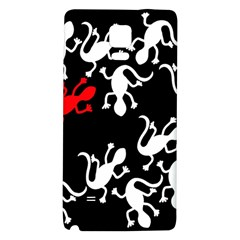 Red Lizard Galaxy Note 4 Back Case by Valentinaart