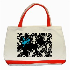 Blue Lizard Classic Tote Bag (red) by Valentinaart